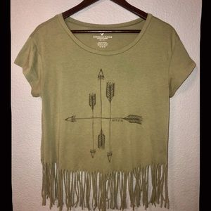 Olive Green American Eagle T-shirt